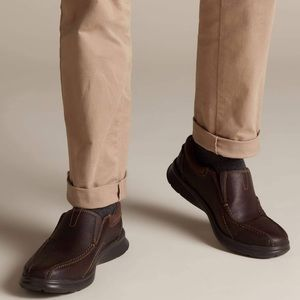Men's Brown Leather Clarks Shoes